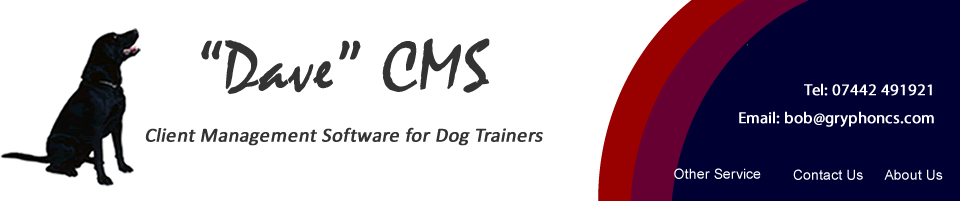 Client Management Software for Dog Trainers - Dave CMS